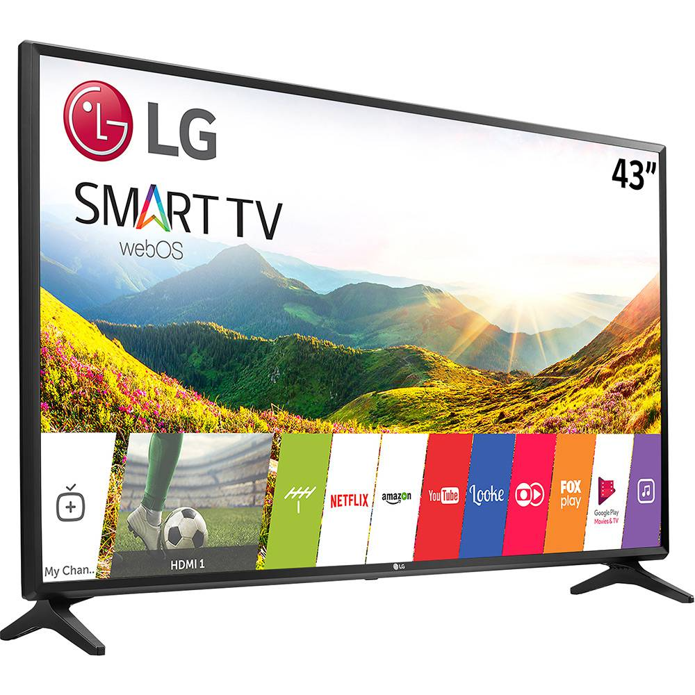 6cd634ffe855d Smart TV LED 43″ LG 43LJ5550 Full HD com Painel IPS